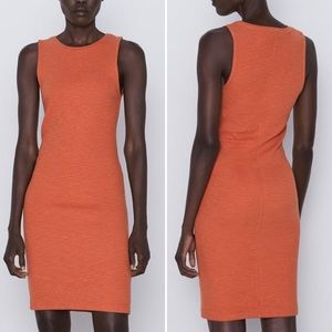 Zara XS Tube Dress - Russet Orange
